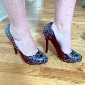 Ed Hardy Patent Leather Pumps